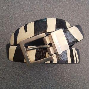 Accessories - Zebra Print Belt